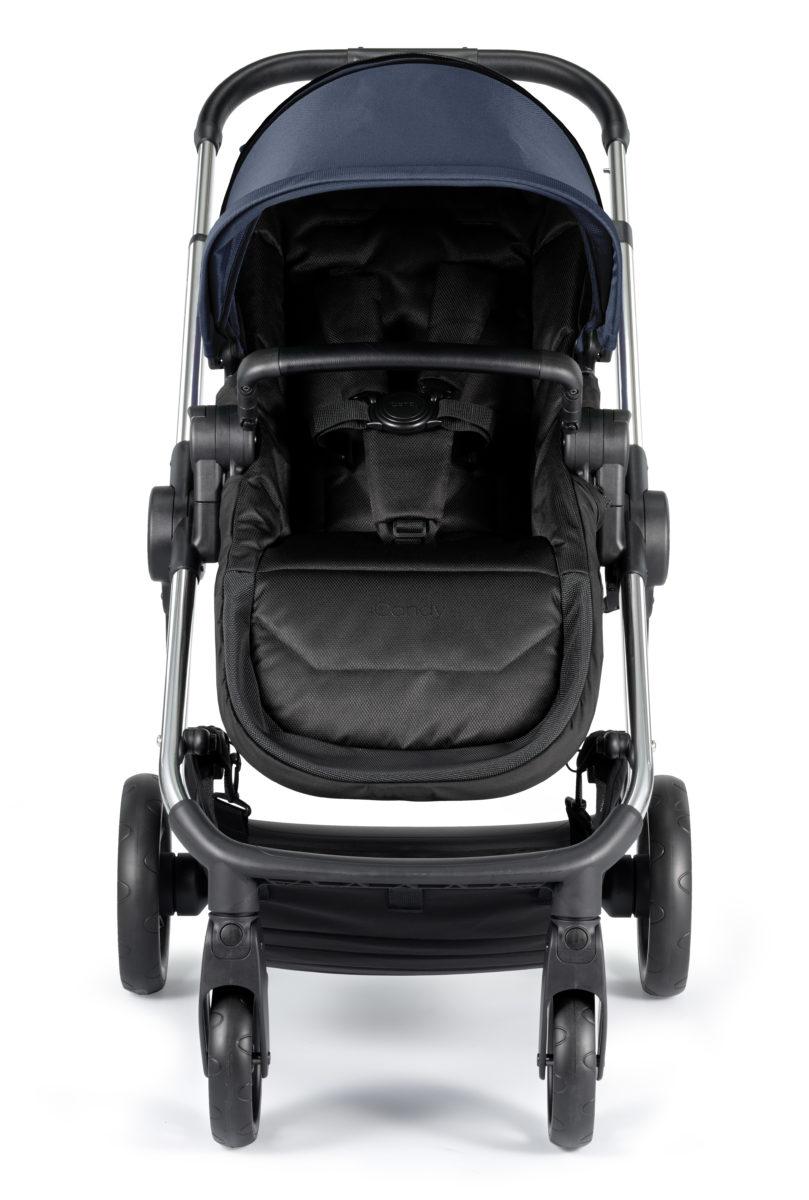 iCandy Lime Slate Blue Chrome Seat Unit World Face