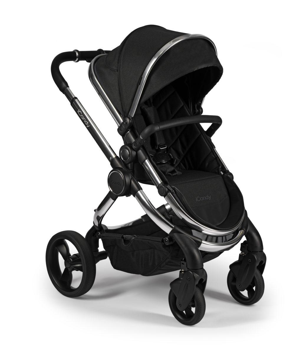 Peach 2020 Black Twill on Chrome – Seat Unit